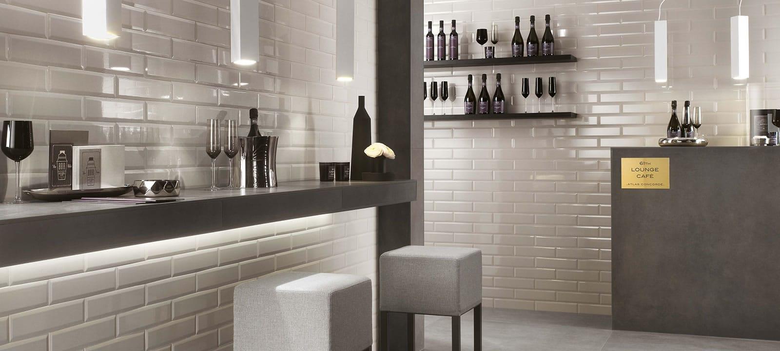 Atlas Marvel Calacatta Extra small brick tiles for shower walls | minoli marvel brick