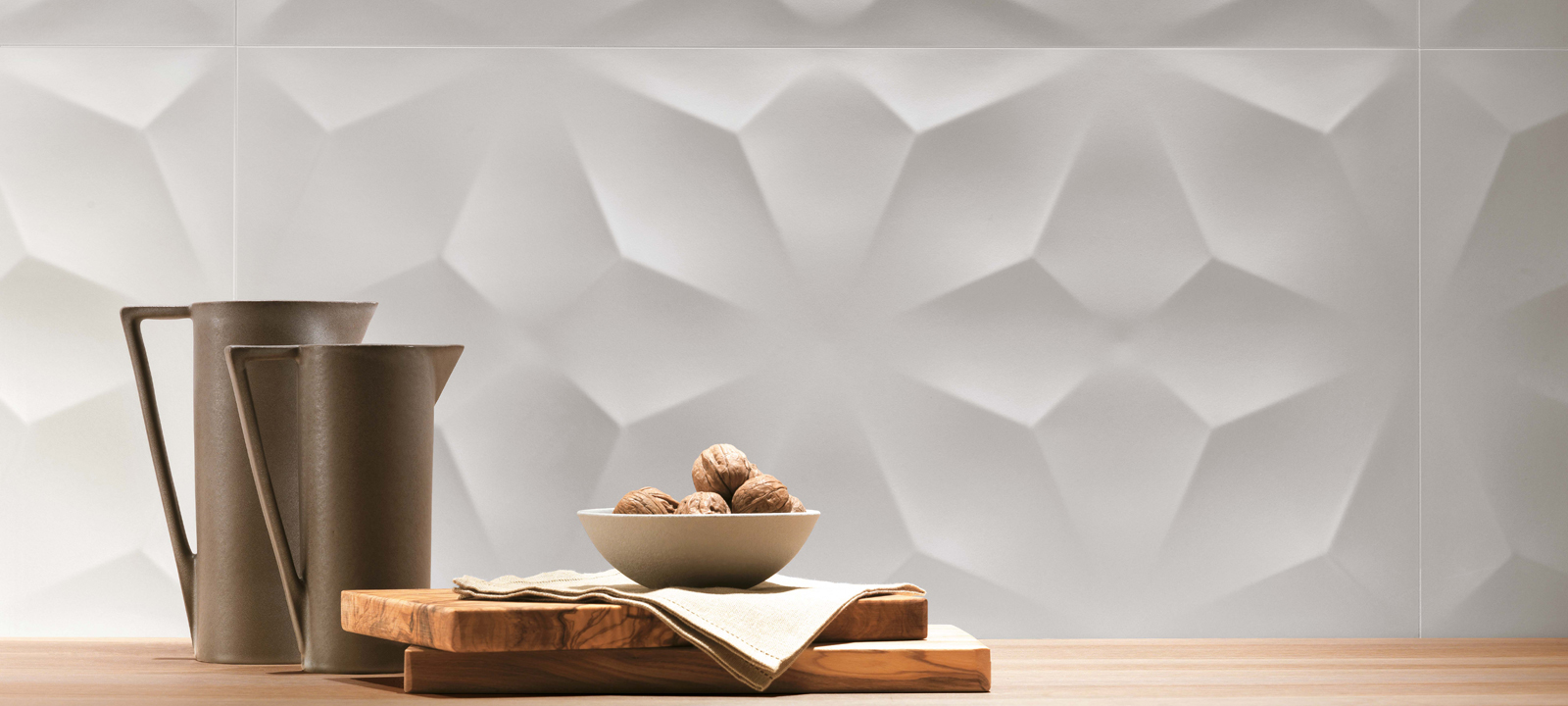 3D Wall Diamond White