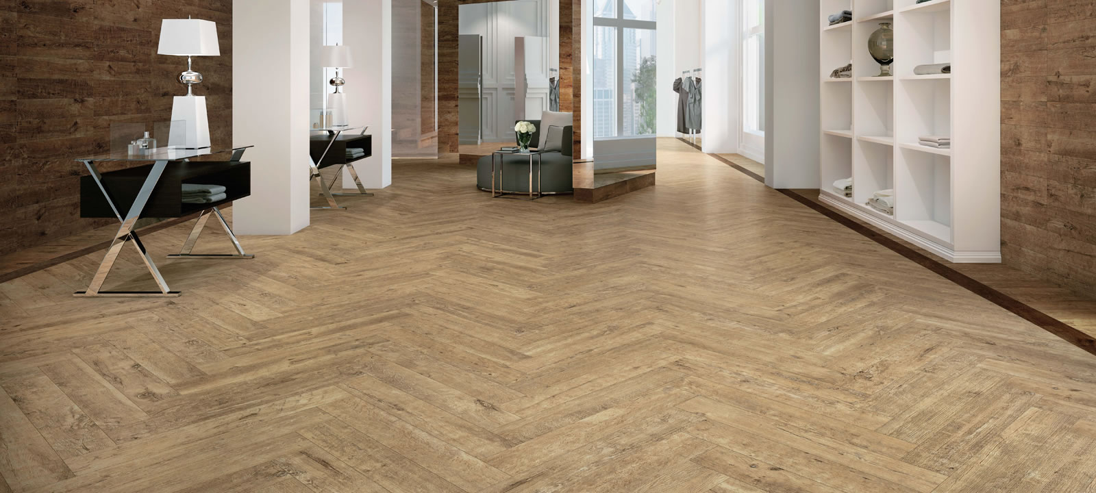 Minoli Axis Golden Oak Wood Effect Tiles 00
