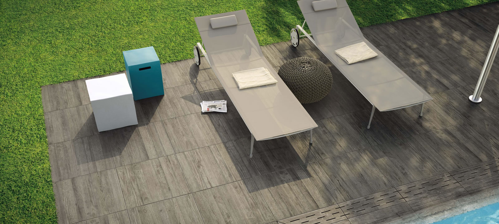 Minoli Axis Grey Timber Grey Wood Effect Tile 11