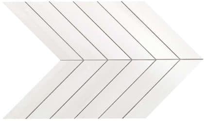 Marvel Bianco Dolomite Chevron Wall 30.5x25 cm