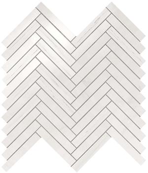 Marvel Bianco Dolomite Herringbone Wall 30.5x30 cm