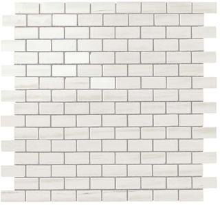 Marvel Bianco Dolomite Lappato Mosaico Burattato 29.8x29.8 cm