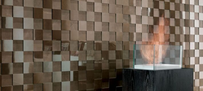 Minoli Evolution Marvel Bronze Luxury Brown Marble Effect Tiles 07