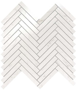 Marvel Carrara Pure Herringbone Wall 30.5x30 cm