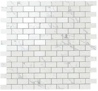 Marvel Carrara Pure Lappato Mosaico Burattato 29.8x29.8 cm