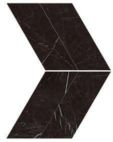 Marvel Nero Marquina Chevron Lappato 22.5x22.9 cm
