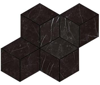 Marvel Nero Marquina Esagono Lappato Mosaico 30x35 cm