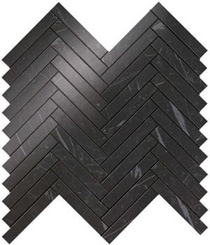 Marvel Nero Marquina Herringbone Wall 30x30.5 cm