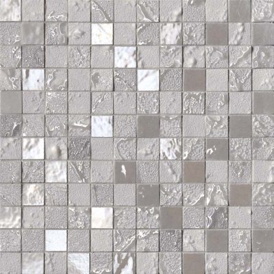 light grey mosaic tiles