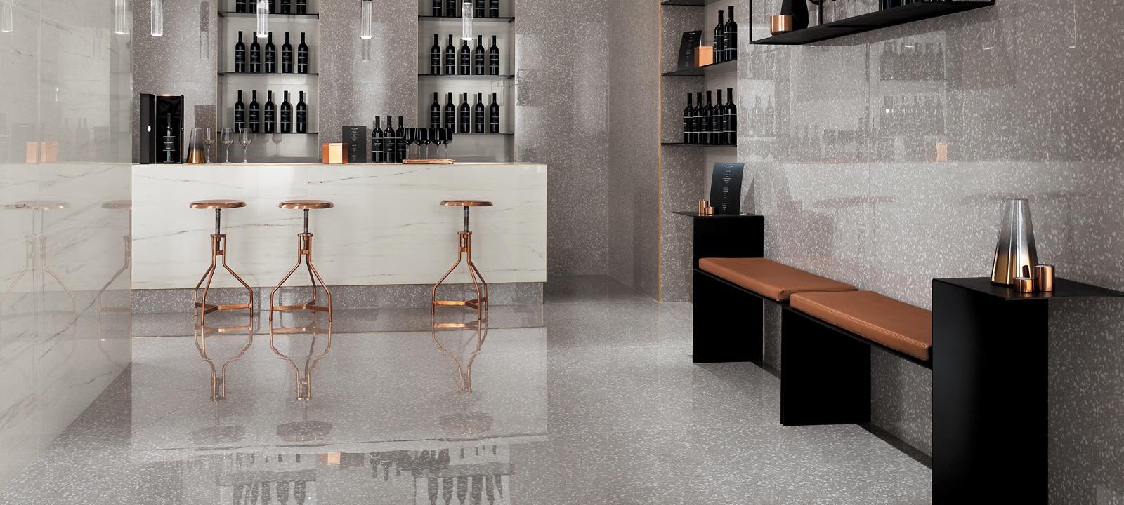 Terrazzo Floor Tile Minoli Marvel Gemstones Terrazzo Pearl