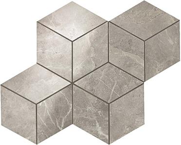 Marvel Grey Fleury Esagono Lappato Mosaico 30x35 cm