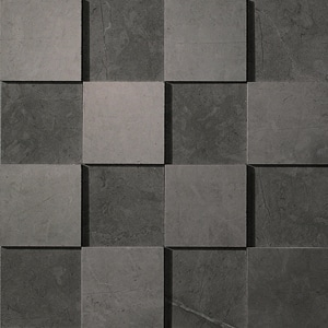 Marvel Grey Stone 3D Mosaico 30x30 cm