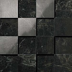 Marvel Noir Saint Laurent Lappato 3D Mosaico 30x30 cm