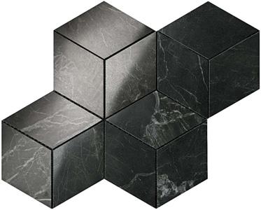 Marvel Noir Saint Laurent Esagono Lappato Mosaico 30x35 cm