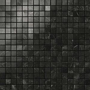 Marvel Noir Saint Laurent Lappato Mosaico 30x30 cm