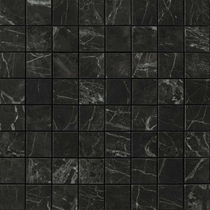 Marvel Noir Saint Laurent Matt Mosaico 30x30 cm