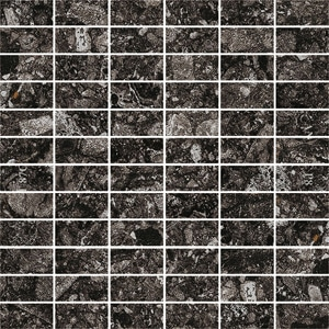 Norway Svart RR03 Mattoncino Mosaico 30x30 cm