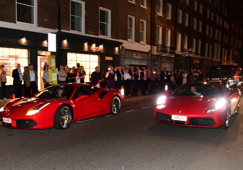 Ferrari cars at the Showroom in London