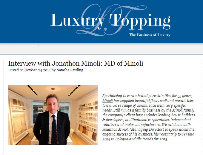 Interview with Jonathon Minoli  MD of Minoli