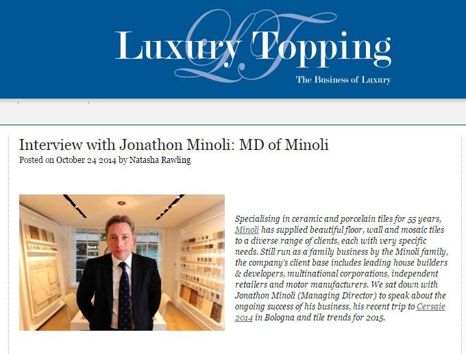 Interview with Jonathon Minoli  MD of Minoli