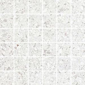 Gemstones Terrazzo White Lap Mosaico