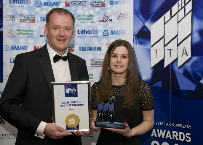 TTA Awards 2015-Excellence in Tile Distribution-L to R-Richard Wallis