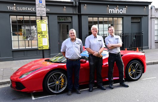 Team Minoli with a Ferrari from HR Owen